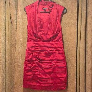 Express Satin Ruched Dress